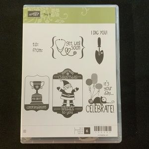 STAMPIN' UP! Tag It Cling Rubber Stamp Set 130303